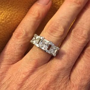 Jewelry - Chunky Sterling CZ ring